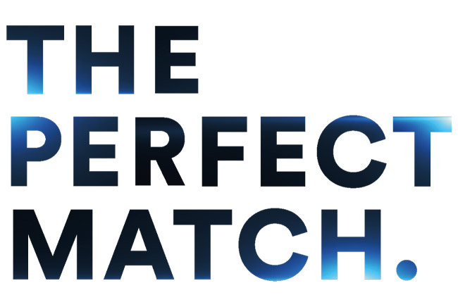 'The Perfect Match' lettering