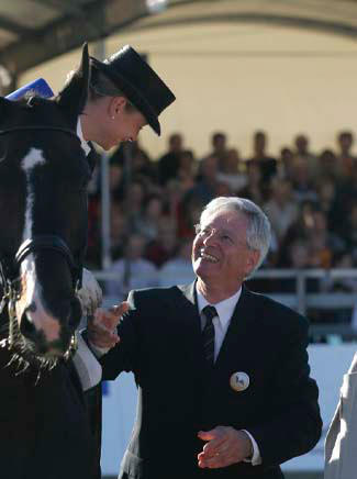 Isabell Werth and Heinrich Kampmann at the dressage festival