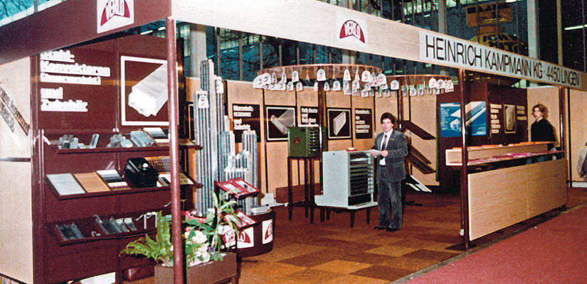 The former Heinrich Kampmann KG's first trade-fair stand